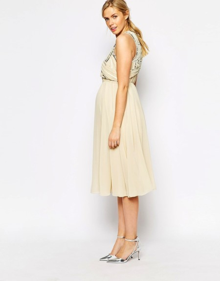 Vestido Premama Blanco Roto
