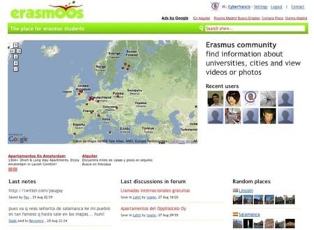 Erasmoos, red social para los estudiantes de Erasmus