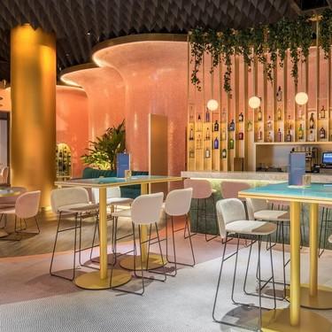 Sinuosidad, cromatismo y un tobogán para adultos: las claves de Ilmiodesign para renovar el hotel Barceló Málaga