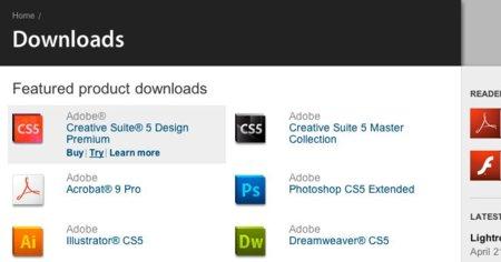 Adobe Creative Suite 5 ya disponible para descarga