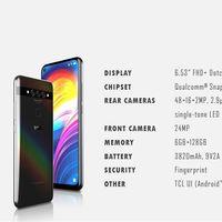 El primer Alcatel con agujero en pantalla y tres cámaras llegaría  el próximo mes, y su smartphone plegable en 2020