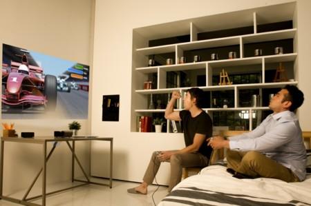 LG PH450U, un proyector LED de tiro corto con batería incorporada