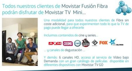 TV Mini, televisión gratis para Fusión Fibra