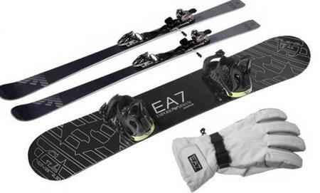 Nos vamos a esquiar vestidos de Giorgio Armani