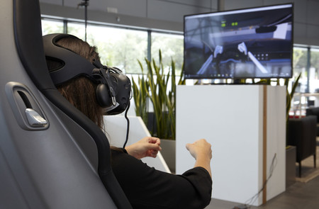Área experiencia 3D Centro Porsche Madrid Norte