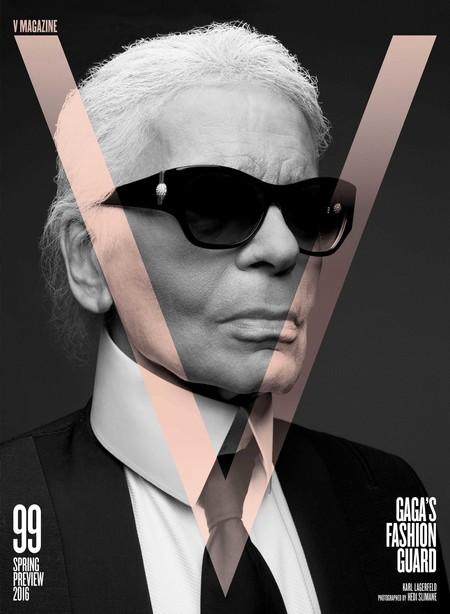 Karl Lagerfeld Covers V Magazine January 2016