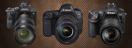 Sony A7rm3 Canon Eos 5div Nikon D850 Fondo