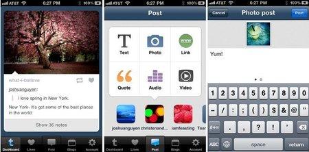 Publicar contenidos desde el móvil