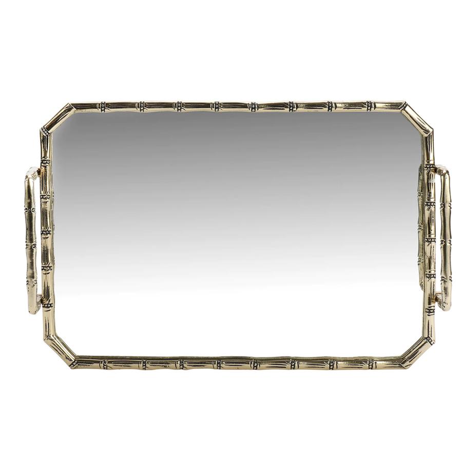 Bandeja con espejo Oro El Corte Inglés