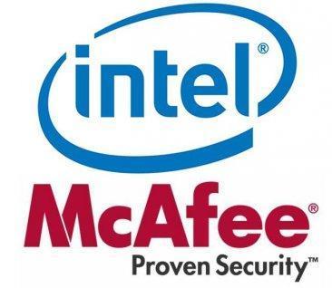 Logos Intel y McAfee