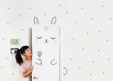 Una buena idea: ¿Transformarmos las puertas del cuarto de los peques en animales?