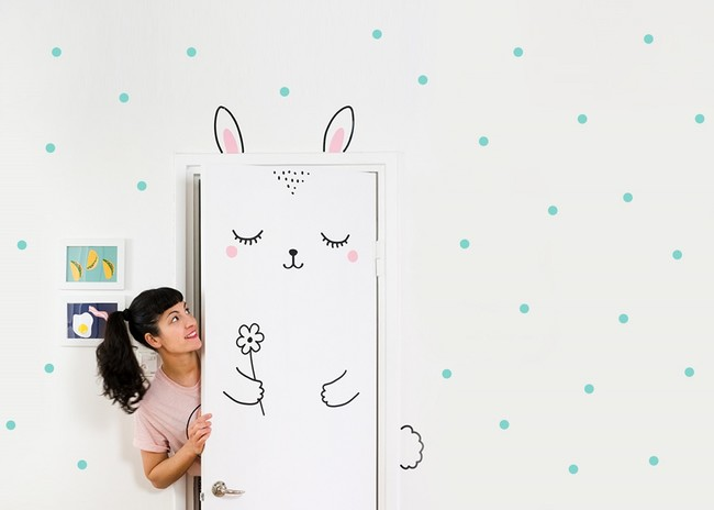 Anni The Bunny Door Decal Sticker 1