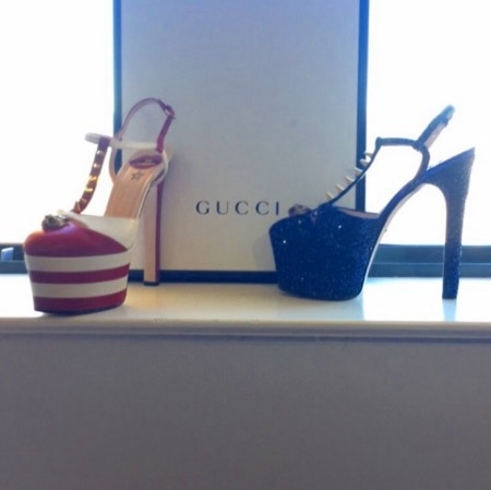 Lady Gaga Gucci Super Bowl Shoes