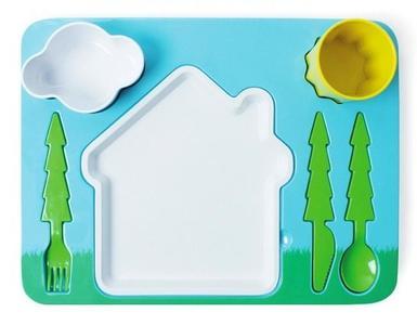 Landscape Dinner Set, una vajilla infantil de diseño y muy divertida