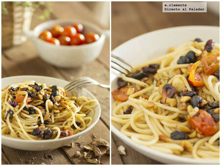 Receta de espaguetis con frutos secos, para darle un toque crujiente (y sabroso) a tu plato de pasta