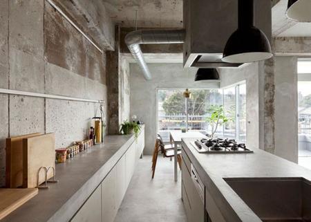 Singular y hermoso apartamento japonés hecho integramente de cemento
