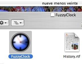 FuzzyClock, las horas escritas