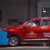 El SUV eléctrico chino MG ZS EV se lleva las 5 estrellas de Euro NCAP, superando al Porsche Taycan y al Opel Corsa-e