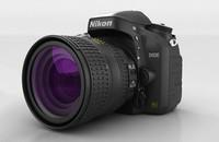 Un modelo 3D muy realista de la Nikon D600 generado por ordenador