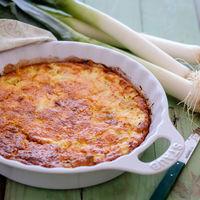Frittata de puerros y queso de oveja curado: receta para una cena diferente