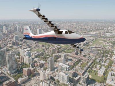 La NASA presenta a 'Maxwell', su primer avión impulsado solamente por electricidad