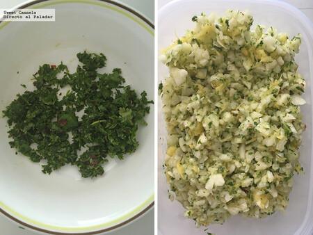 Ensalada de jícama y piña con chile de árbol. Receta saludable y fácil