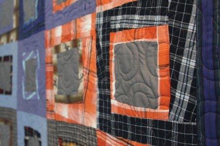 Recicladecoración: un edredón con viejas camisas