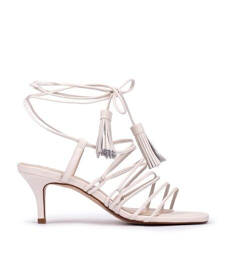 Sandalias De Tacon De Mujer Martinelli De Piel Con Tiras En Color Blanco