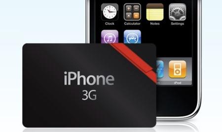 Apple presenta una tarjeta regalo para el iPhone 3G