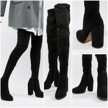 Estas botas de caña alta a la última, están en ASOS por 51,49 euros y envío gratis