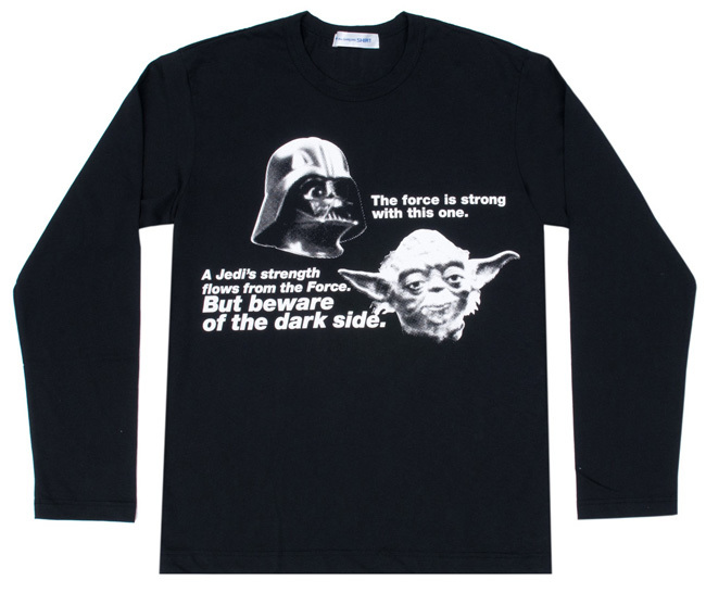 Comme des Garcons Star Wars camiseta negra 3
