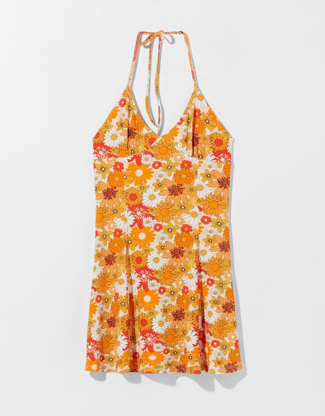 Vestido corto print flores.