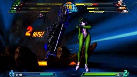 'Marvel vs. Capcom 3'. She-Hulk y Zero entran a escena