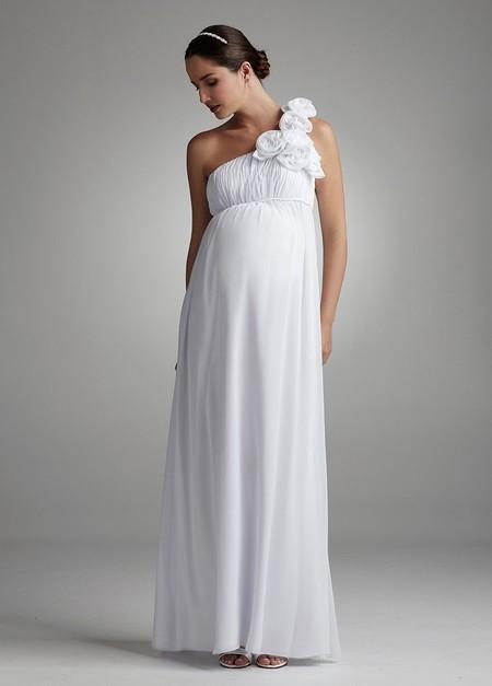 03fc37a43 Vestidos de novia muy favorecedores para embarazadas
