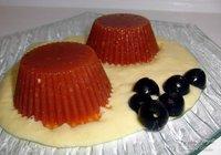 Receta de gelatina de tomate sobre puré de maíz