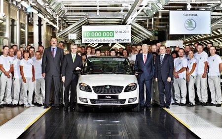 Škoda alcanza una producción de 10 millones de vehículos