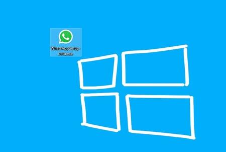 El ejecutable de WhatsApp Desktop Beta en un ordenador con Windows 10
