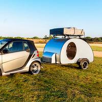 La Cocoon es una pequeña caravana low cost que hasta un smart podría remolcar, por 5.600 euros