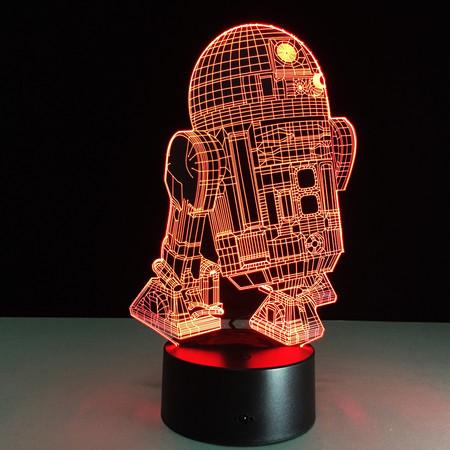 Lámpara 3D Star Wars R2D2 por sólo 5,94 euros y envío gratis con este cupón
