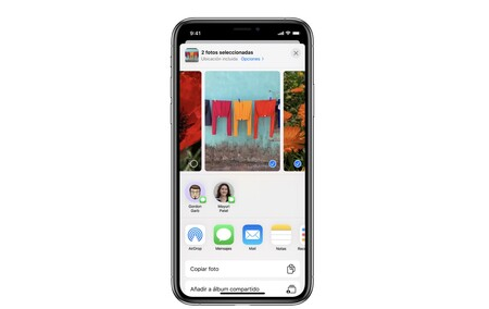 Así podemos activar o desactivar las sugerencias de personas en el menú Compartir de nuestro iPhone o iPad