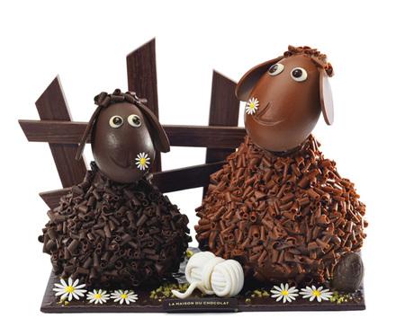 "Esta Pascua, ""La Maison au Chocolat"" nos dibuja ovejitas"