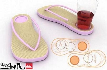 FlipFlop Aperitivo, sandalias para caminar y sostener tu vaso