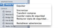 Accede a las opciones de sincronización de los dispositivos iOS