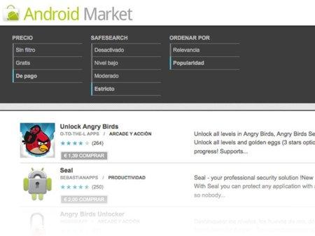 Es complicado vender aplicaciones en Android Market