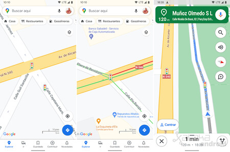Google Maps Android Traffic Lights