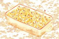 Las ilustraciones de Monica Ramos crean pequeños mundos de fantasía alrededor de comidas