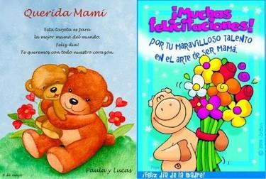 Carteles y felicitaciones del Día de la Madre para imprimir