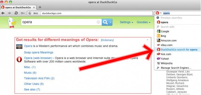 DuckDuckGo ya puede ser tu buscador predeterminado en Opera