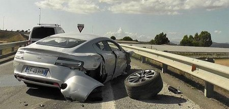 Aston Martin Rapide Crash