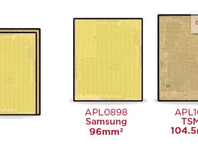 TSMC y Samsung comparten la fabricación del Apple A9 de los iPhone 6S, y son dos chips diferentes